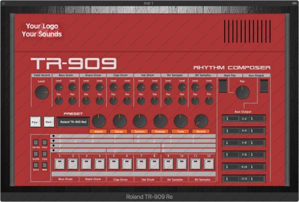 Roland TR-909 Red